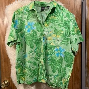 Green & Blue Floral Tropical Shirt